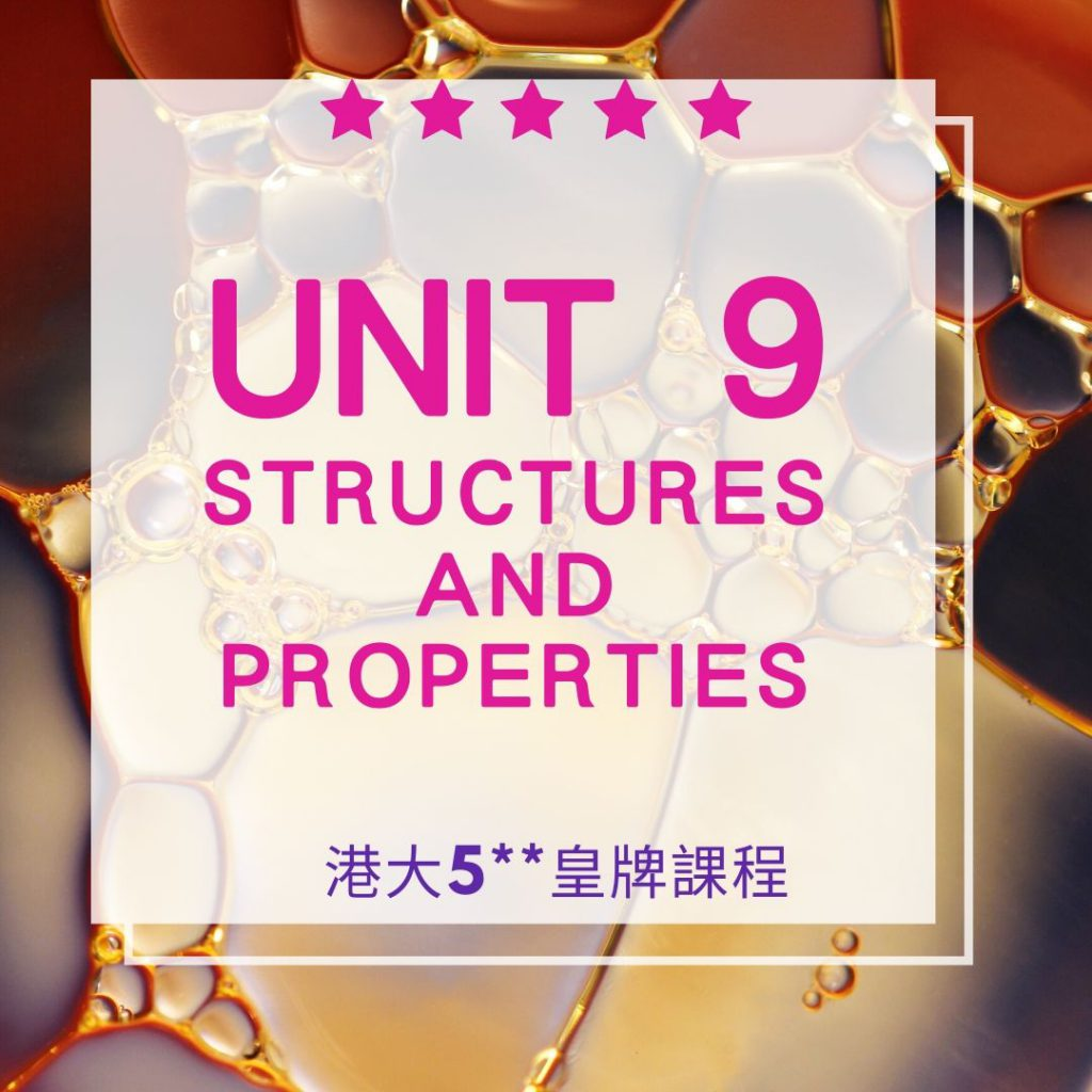 Unit 9. Structures and Properties 結構與特性 2